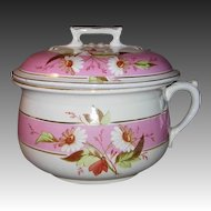 Ironstone China Chamber Pot w/Daisy Design