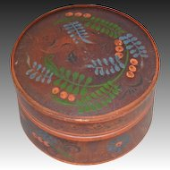 American Turned and Painted Treenware Box