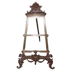 19th C. Table Easel with Griffons