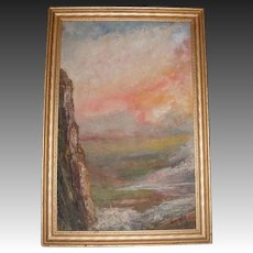 Oil on Board Painting by American Artist Francis West (1881-1971)