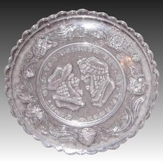Early American Sandwich Pattern Glass Cup Plate – Wedding Day Design