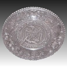 Early American Sandwich Pattern Glass Cup Plate – Eagle