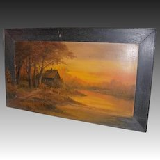 Artist H. A. Duessel (Henry A.) Oil on Board