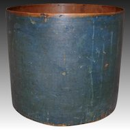 Large 19th Century Dry Grain Measure in Blue Paint