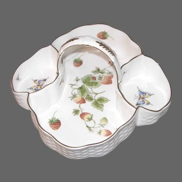 Four Section Strawberry Basket by COALPORT