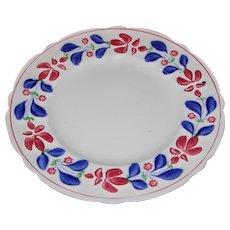 "Allertons England ""Persian Ware"" Stick Cut Sponge Ware Plate"