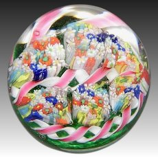 Millefiori Cane and Garland Paperweight