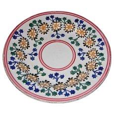 Circa 1800s Wm Adams Tunstall England Stick Cut Sponge Spatter Ware Plate