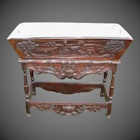 "Provencal Louis XV Carved Walnut Petrin ""Dough Box"" with Galvanized Top"