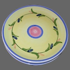Vintage Carousel Pattern Luncheon Plates by CALECA Italian Pottery