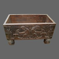 Vintage Pair Carved Fireplace Kindling Boxes
