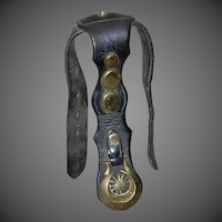 19th Century Leather Horse Harness w/Brass Medallions & Studs