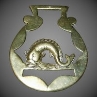 Cast Working Horse Brass with Atlantic Horse Fish (Mackerel)