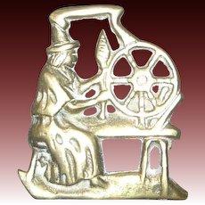 Jenny Jones at Spinning Wheel Brass Horse Harness Medallions