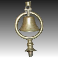 Brass Fly-Head Terret/Swinger Bell for Horse Harness Head Piece