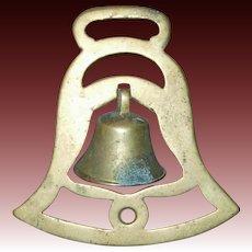 Cast Brass Swinger Bell Brass Horse Harness Medallion