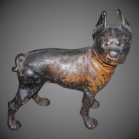 HUBLEY Cast Iron Boston terrier Bulldog Doorstop