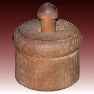 Miniature Wooden Butter Mold/Press w/Star Stamp Design