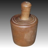 Miniature Wooden Butter Mold/Press w/Cherry Stamp Design