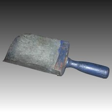 8 Inch Tin Scoop with Wooden Handle