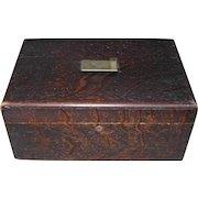 Vintage Tin Lined Humidor Cigar Box with Reusable Filter