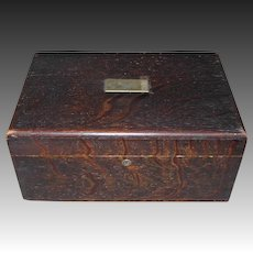 Vintage Tin Lined Humidor Cigar Box with Reusable Filter