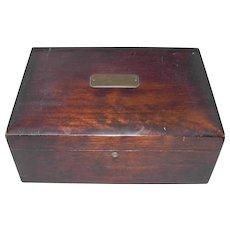 Vintage Humidor Cigar Box with Porcelain Liner