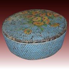 Pacific Northwest Coast Tlingit Indian Sewing Basket