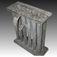 19th Century 12 Taper Tin Candle Mold