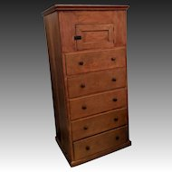 Antique Shaker Cupboard over Drawers