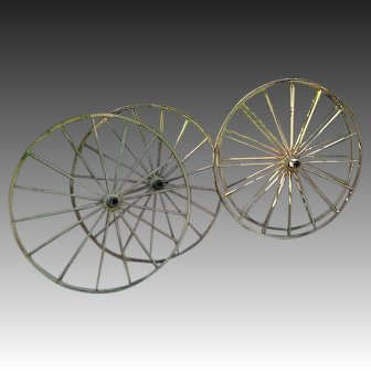 Matched Set of Four Antique Carriage or Buggy Wheels