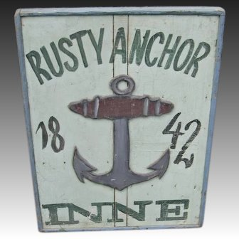 Rusty Anchor Inne Sign