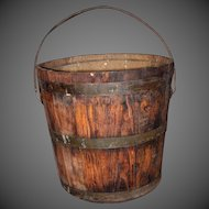 Shaker Made Berry Bucket, Pail with Bail Handle