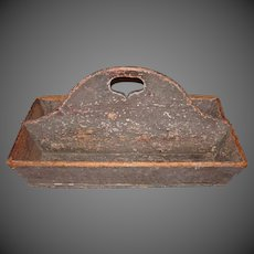 19th Century Primitive Pine Cutlery Carrier