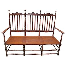 Arts & Crafts Banister Back Settee
