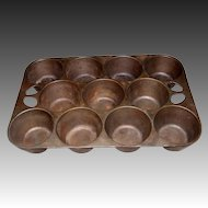 Vintage Cast Iron Pop-Over, Muffin Pan