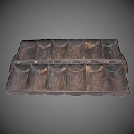 Vintage Cast Iron French loaf Corn Bread Pan