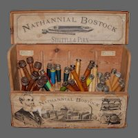 Nathannial Bostock Shuttle & Pirn Store Display