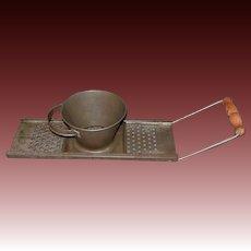 Vintage Dumpling, Spaetzle Maker with Sliding Cup