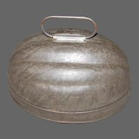 Early 1 Quart Tin Melon Shaped Mold marked