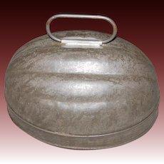 Early 1 Quart Tin Melon Shaped Mold marked