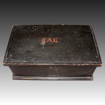 19th Century Pine Sundries Box