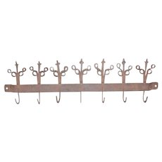 18th Century Wrought Iron Utensil Rack