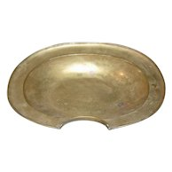 18th C. French Brass Barbers Bowl