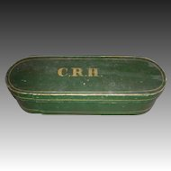 19th C. Bentwood Box in Original Green Paint