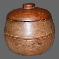19th Century Treenware Three Piece Two Compartment Spice Box