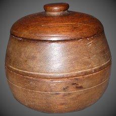 19th Century Treenware Three Piece Two Compartment Spice Box