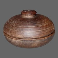 19th Century Treenware Spice Box