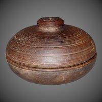 19th Century Treenware Spice Box