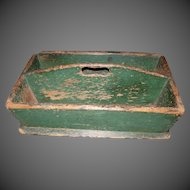 Antique Painted Cutlery Box